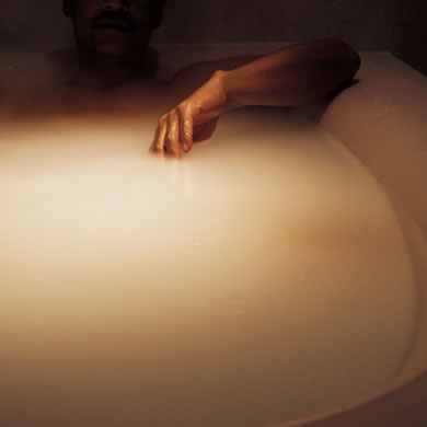 お湯が発光しているような幻想的な眺め。