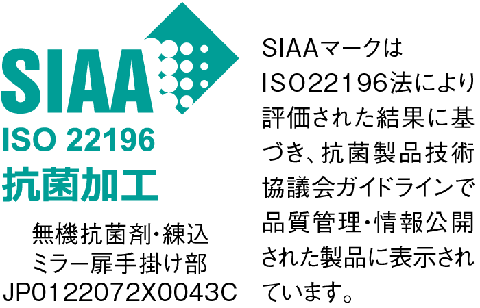 SIAA ISO 22196 抗菌加工