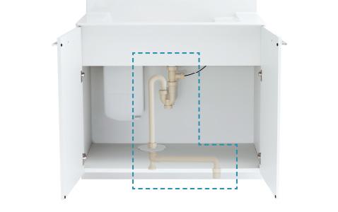「リフォームキット」で排水位置を変えずに簡単リフォーム。