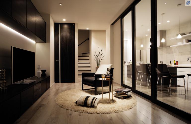 白と黒のシンプルでおしゃれな自宅に合うルームランナー