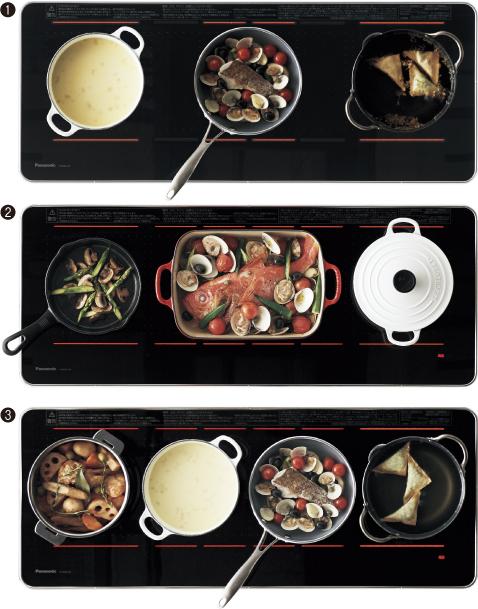 鍋配置バリエーションの写真