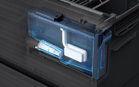 「使うときにだけあらわれる、閉じれば存在しないかのような一体感」。フル扉材仕様だからこそ実現した、美しさと機能性を兼ね備えた食器洗い乾燥機です。