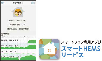 アプリにお知らせ スマートフォン専用アプリ スマートHEMSサービス
